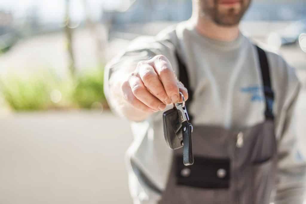 Récupération des clés, suite à l'achat d'une voiture neuve