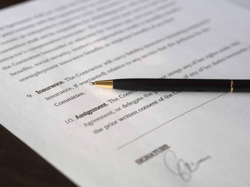 Contrat d'assurance, conditions générales clauses