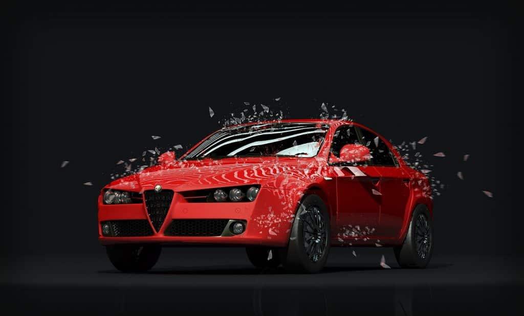 Alfa Romeo, voiture rouge